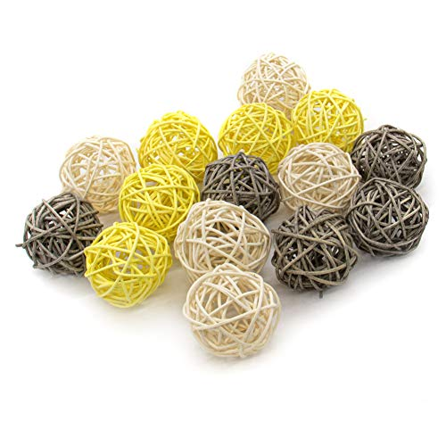 AUEAR, 15 Pack Wicker Rattan Balls Craft for Vase Fillers Wedding Table Decoration Christmas Party Accessories Decoration (Creative Fillers 15 Vase)