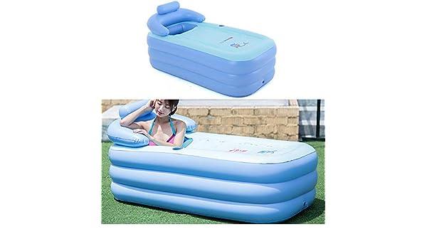 vcbfd - Bañera hinchable para adultos, PVC, piscina hinchable, color azul: Amazon.es: Jardín