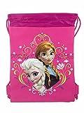 New Disney Frozen Queen Elsa Drawstring String Backpack School Sport Gym Tote Bag!- Pink