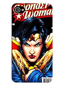 Colorful flip tpu cover case for iphone 4/4s of Wonder woman in Fashion E-Mall with texture