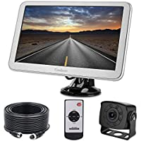Backup Camera with Monitor Kit for RV, Van, Totally Upgraded Super 9 inch Adjustable Stable Monitor, 175 Degree Wide View HD Small Rear View Cam for Bus, Campers, 5th Wheel, Motorhome