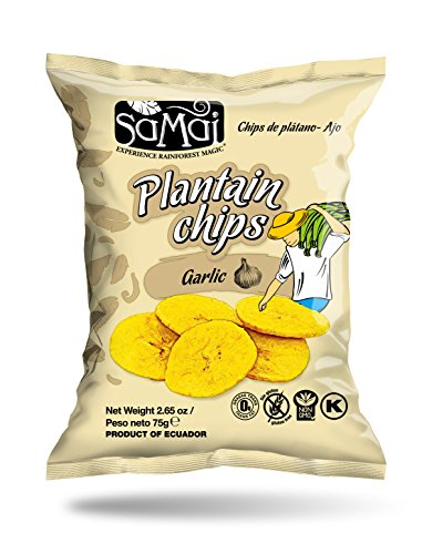 Amazon.com : Samai Plantain Chips Garlic 2.65 oz (Pack of 15) Gluten-Free Nut-Free Lactose-Free Kosher Certified Paleo Friendly Plantain Snack : Grocery ...