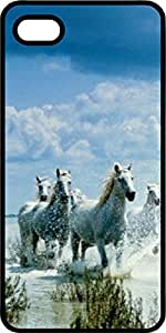 Galope White Stallions Negro de plástico decorativo para iPhone 6