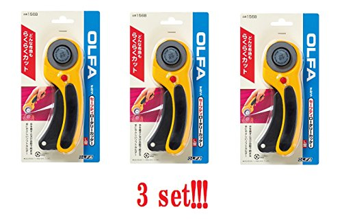 [3 sets!!] OLFA Safety Rotary Cutter 45mm L type 156B from Japan