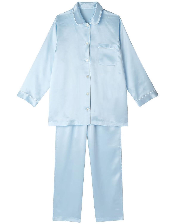 【ワコール】レディース 睡眠科学 シルクサテン長袖パジャマ
