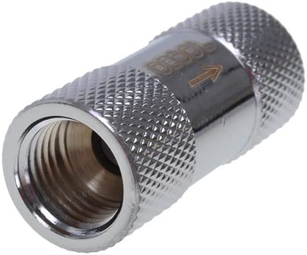Chrome Water Cooling Fittings Alphacool 29045 Check Valve G1//4 IG
