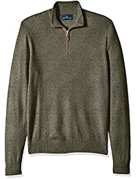 Amazon Brand - BUTTONED DOWN Men's 100% Premium Cashmere Quarter-Zip Sweater