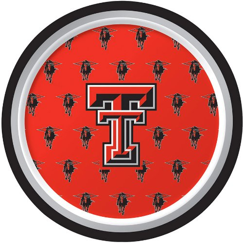8-Count Appetizer/ Dessert-sized Paper Plates, NCAA Texas Tech University Red Raiders