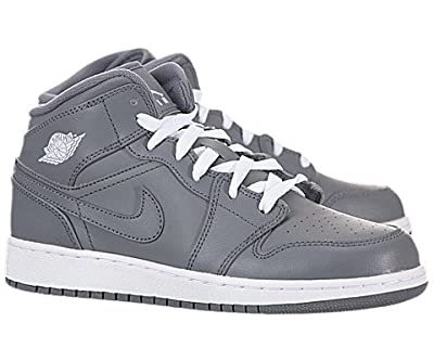 Jordan Youth AJ 1 Mid Basketball Shoes