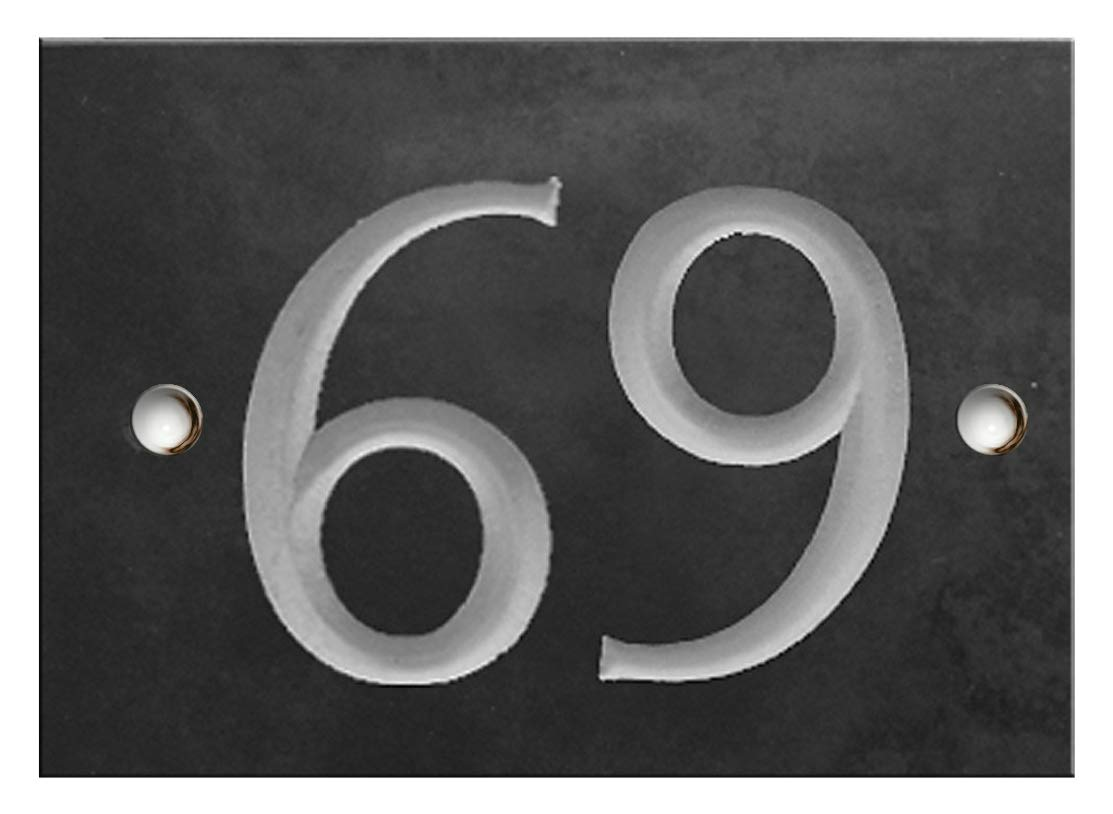 Grabado Slate número de casa mismo día envío., Number 01 ...