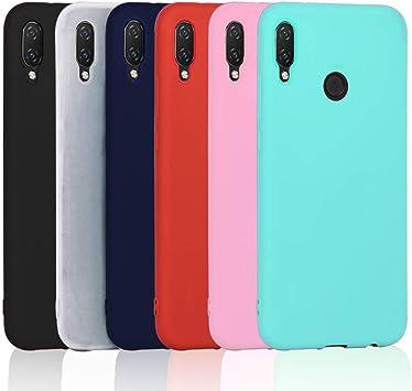 6X Coque Huawei P Smart Plus, XiaoXiMi Étui per Huawei P Smart , Housse Ultra Mince en Silicone Coque Antichoc Durable - [ Noir Bleu foncé Rouge ...