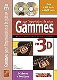 Desgranges Gammes Pour Limprovisation A La Guitare 3D Gtr Bk/Cd/Dvd