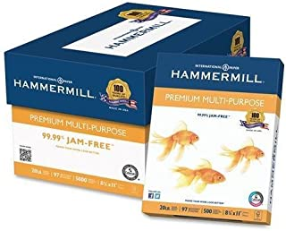 """product image for Hammermill Multipurpose Paper,GE 97, 20lb., 8-1/2""""x11"""", 5000/CT, WE (106310)"""