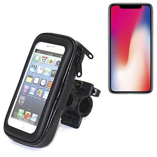 Montaje de la bici para Apple iPhone X, montaje del manillar para smartphones / teléfonos móviles, de aplicación universal. Conveniente para la bicicleta, motocicleta, quad, moto, etc. repelente al agua, a prueba de salpicaduras a prueba de lluvia, sostene