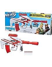Nerf Fortnite B-AR Motorized Dart Blaster -- Fortnite Converge Wrap, Motorized 10-Dart Blasting, 10-Dart Clip, 10 Official Nerf Elite Darts