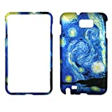 2D Blue Design Samsung Galaxy Note I717 , i9220 Case Cover Hard Phone Case Snap-on Cover Rubberized Touch Faceplates