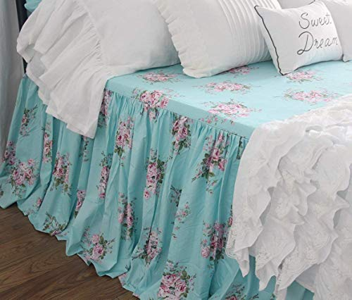 Victorian Chic Printed Bedspreads Coverlet Rustic Floral Bedspread Bedskirts