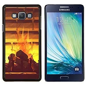 LECELL--Funda protectora / Cubierta / Piel For Samsung Galaxy A7 A7000 -- Doler Místico acuarela abstracta --
