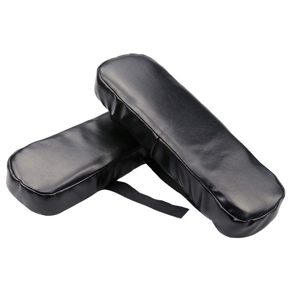 2 Pcs Chair Armrest Pad Office Arm Cover Cushion, Ergonomic Leather Adjustable Covers Memory Foam for Relieve Forearm and Elbow Pain Gaming Rest