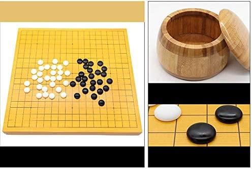 FESSLAND Go Juego, Go Set con Tablero de bambú Reversible Go, Que ...