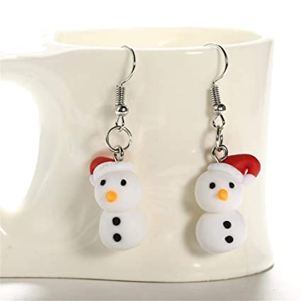 Polymer Clay Christmas Earrings.Amazon Com 1set Handmade Dangle Hook Lovely Polymer Clay