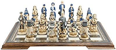 American Civil War Chess Set - Handmade and Hand Painted - 5 Inches