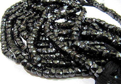 Cube Onyx Black (AAA Quality Black Spinel 3D Cube Beads 6 to 7mm size, Black Spinel Faceted Box beads, Strand 8 inches Long, Sold Per String 30 to 35 beads)