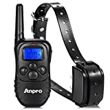 Training Dog Collar - Anpro DC-35 Rechargeable Remote Dog Training with Beep, Vibration and Shock for Breed Dog Electronic Electric Collar, 15 to 100 lbs, 330 yd