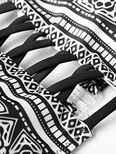 Slivexy - Bikini de Playa para Mujer Cuello Halter Negro