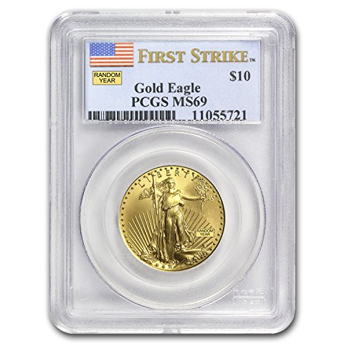 1986 – Present 1/4 oz Gold American Eagle MS-69 PCGS (Random Year) Gold MS-69 PCGS