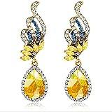 Fashion Women Rhinestone Crystal Ear Stud Water Drop Dangle Earring Jewelry Gift