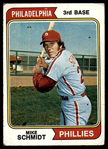 Baseball MLB 1974 Topps #283 Mike Schmidt Very Good Phillies