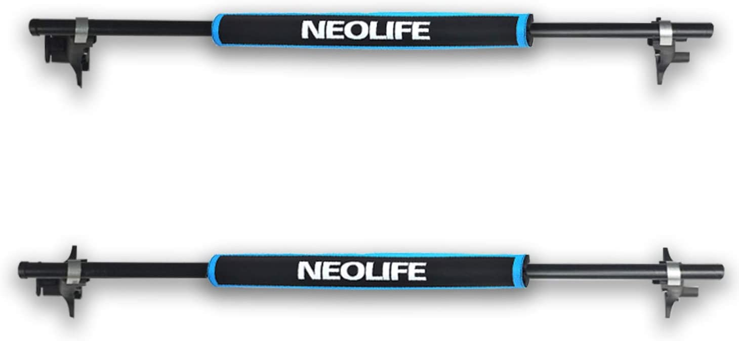 Snowboard Neolife Soft Roof Rack Pads with Two 15 Ft Tie Down Straps for Surfboard SUP Paddleboard Pair 19//28inch