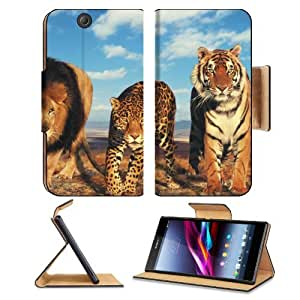 Animals Lions Tigers Leopard League Patrol Sony Xperia Z Ultra Flip Case Stand Magnetic Cover Open Ports Customized Made to Order Support Ready Premium Deluxe Pu Leather 7 1/4 Inch (185mm) X 3 15/16 Inch (100mm) X 9/16 Inch (14mm) MSD Sony Xperia Z Ultra