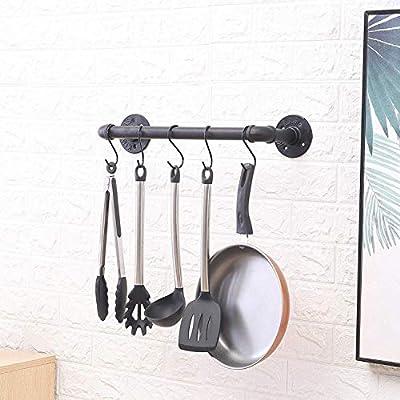 YXZQ Estante de Almacenamiento, Almacenamiento y organización de la Cocina Metal Hierro Colgar en la Pared Olla Bar Rack Colgante para Utensilios de Cocina Perchero con 10 Ganchos Unidades d: Amazon.es: Hogar
