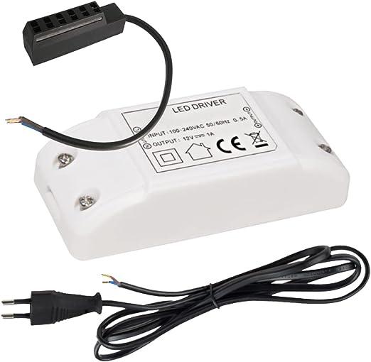 AMP-Verteiler 6fach und 230V Zuleitung Elektronischer LED Trafo 20W Eckig inkl