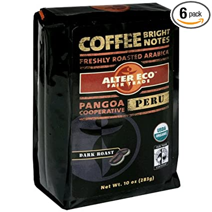 Alter Eco Comercio Justo Perú Café Orgánico, grano, Dark ...