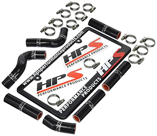 HPS 57-1344-BLK Black Silicone Heater Hose Kit Coolant