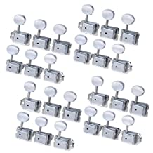 4sets of 24R Chrome Tuning Peg/machines in Line for for Fender Telecaster Stratocaster Replacemnet