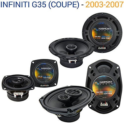 Infiniti G35 (coupe) 2003-2007 OEM Speaker Replacement Harmony Upgrade (2004 Upgrade Package)