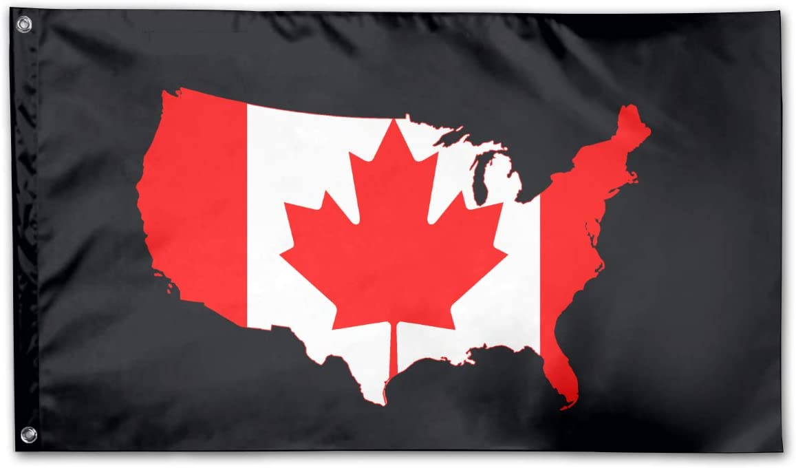 Canada and USA Outdoor Decorative Yard Flag Home Garden Flag 3 X 5 Ft
