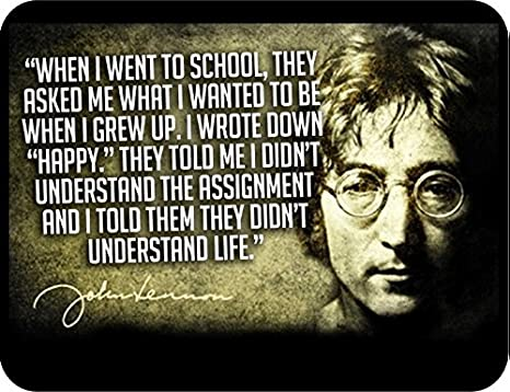 Amazon 12x18 Poster Famous Quote John Lennon They Say I Didnt