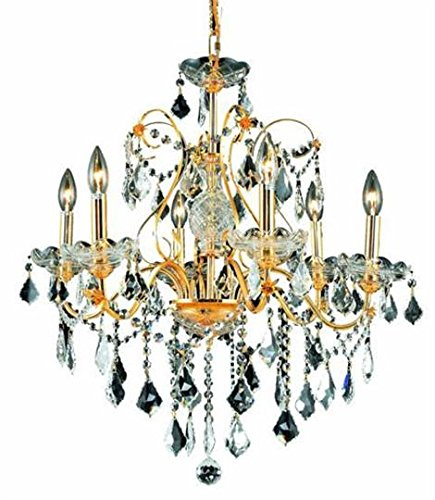 Sonoma Valley Six Light Chandelier (Christiane Gold Traditional 6-Light Hanging Chandelier Swarovski Spectra Crystal in Crystal (Clear)-1713D24G-SA--24