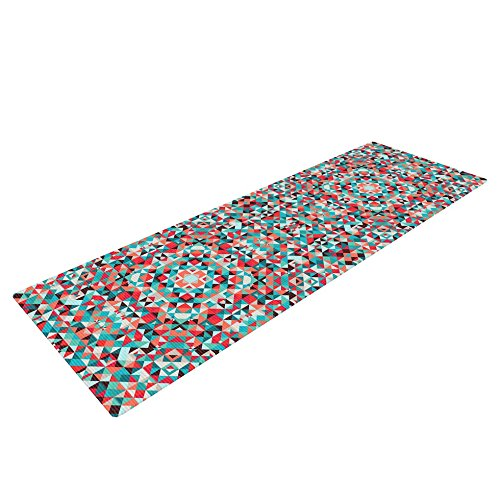 Kess InHouse Allison Soupcoff Tart Exercise Yoga Mat, Red Teal, 72″ by 24″ Review
