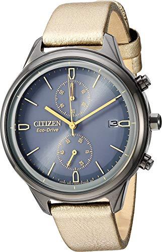 - Ladies' Citizen Eco-Drive Chandler Gold Vegan Leather Strap Watch FB2007-04H