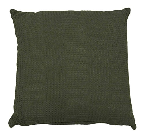 Whisper Organics Organic Cotton Throw Pillow by G.O.T.S. Certified (18x18, Dark Grey) by Whisper Organics