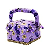 "Great gifts for girls and ladies  Cute!Cute!Cute! Our fabric small wooden sewing basket kit is perfect for everyday sewing and mending. Sewing basket measures at 4.8"" x 4.8"" x 3.8"". Why you need Our Sewing Equiment?   - AZO free - Too cute fo..."