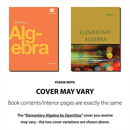 Elementary Algebra by OpenStax Volume 1 and Volume 2 (cover may vary) - http://medicalbooks.filipinodoctors.org