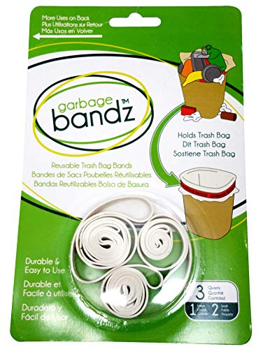 le Elastic Rubber Bands For Trash Cans, 1-Pack (3 Pieces) ()