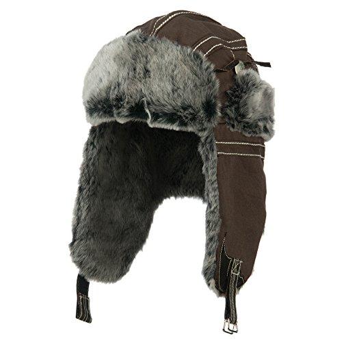 Cotton Twill Trooper Hat - Brown OSFM